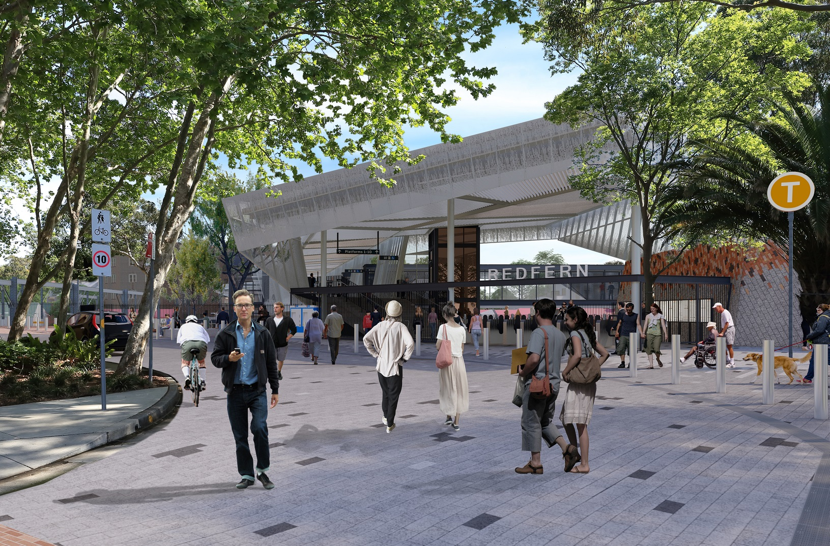 Artist impression of Marian Street entrance