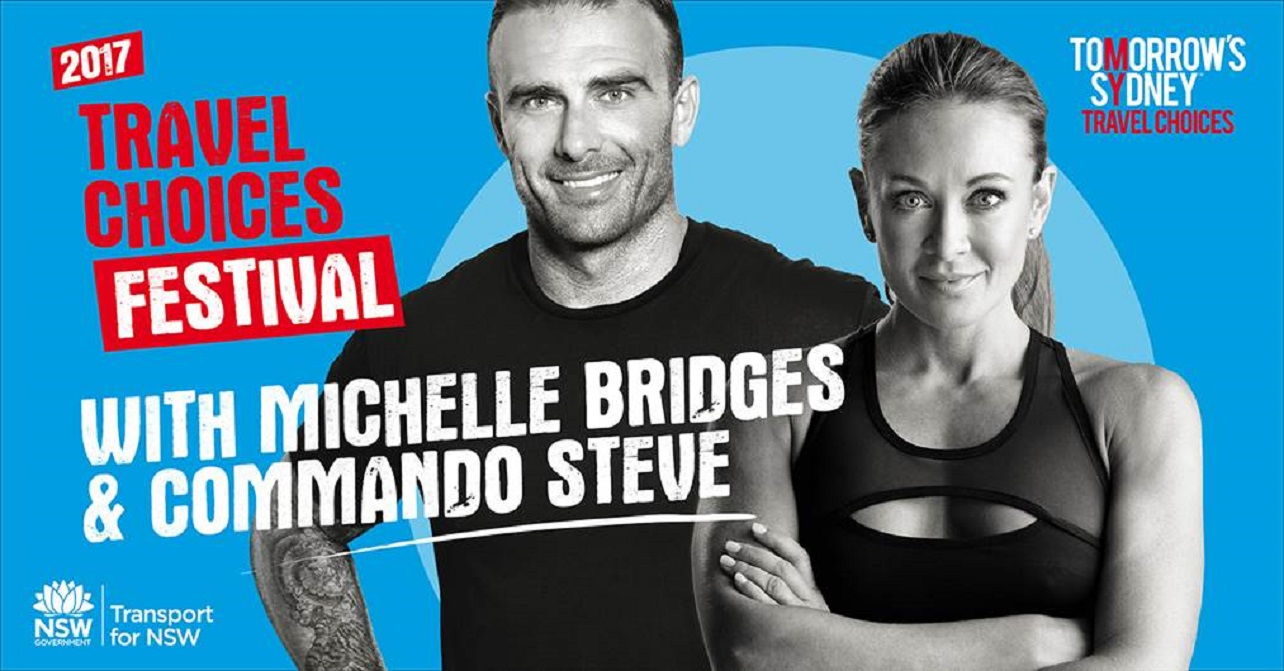 Celebrity fitness experts Michelle Bridges and Commando