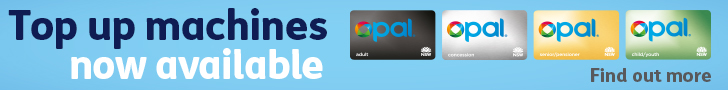 Top up machines now available - Opal Card