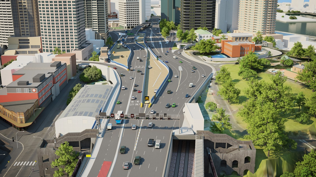 An artist's impression of traffic changes on the Sydney Harbour Bridge