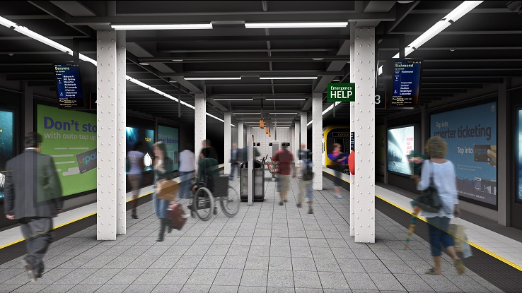 An artist's impression of the upgraded Wynyard Station