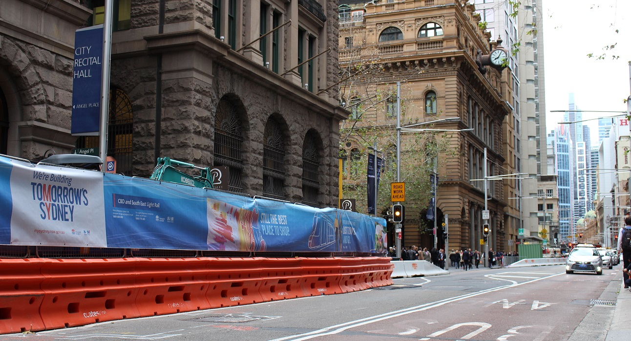 Construction work begins in Martin Place