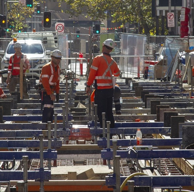 Construction work underway in the CBD