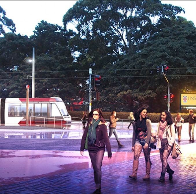 Sydney CBD & South East Light Rail stop at the University of NSW