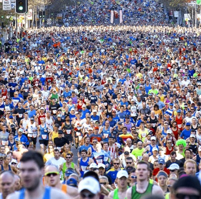 Competitors in the City2Surf