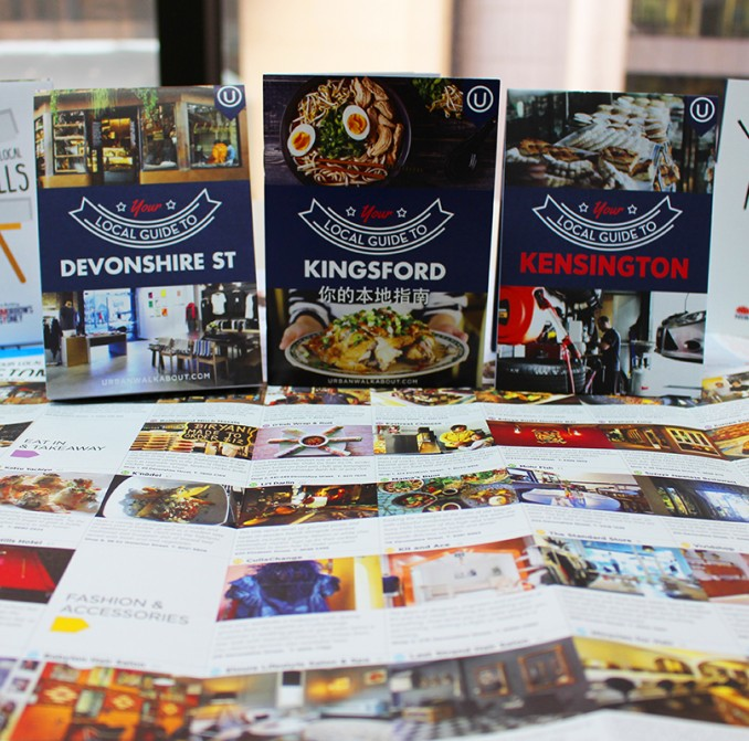 Local business guides for Kensington, Kingsford & Surry Hills as part of the light rail business activation program.