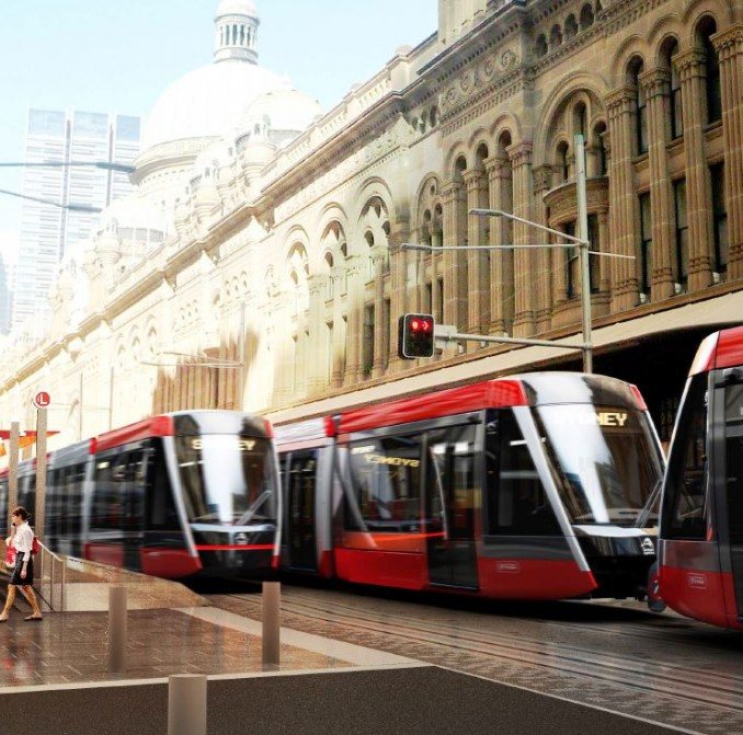 Artist impression of new light rail vehicles