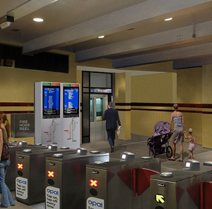 artists impression of new concourse with Opal gates