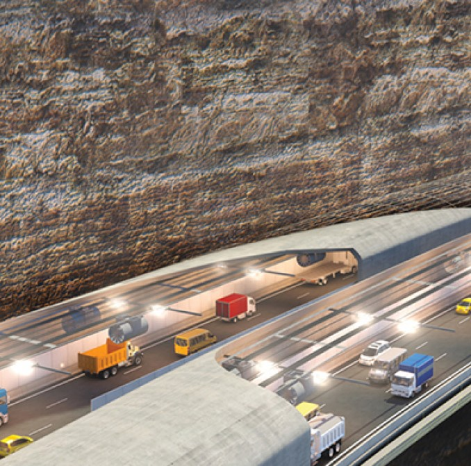 artists impression of WestConnex tunnel