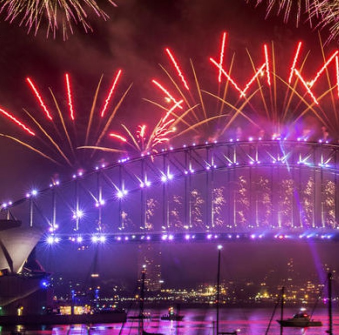 Fireworks on Sydney Harbour