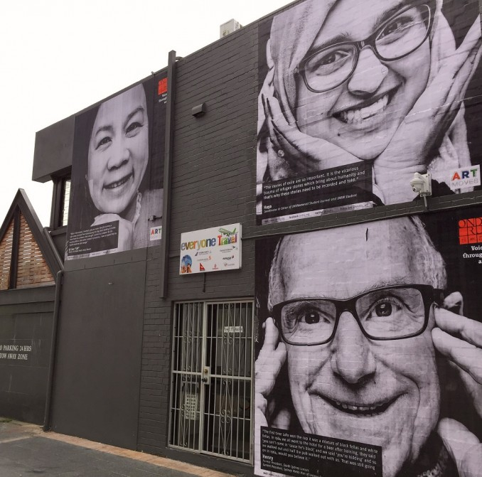 An artwork paying tribute to Kingsford's unsung heroes