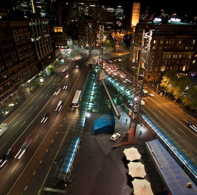 Sydney CBD at night