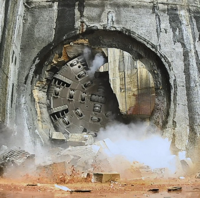 TBM Nancy breaking through at Barangaroo