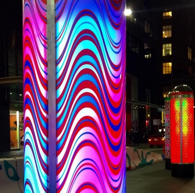An interactive light and animation installation