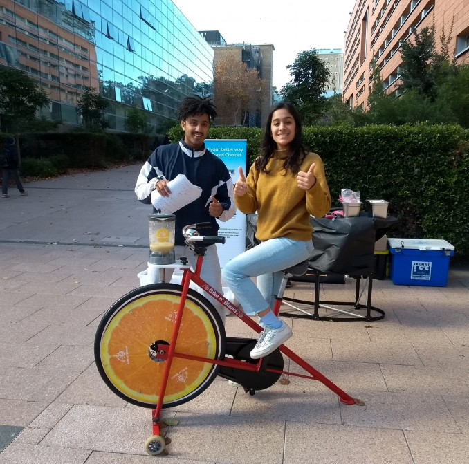 smoothie bike at UNSW