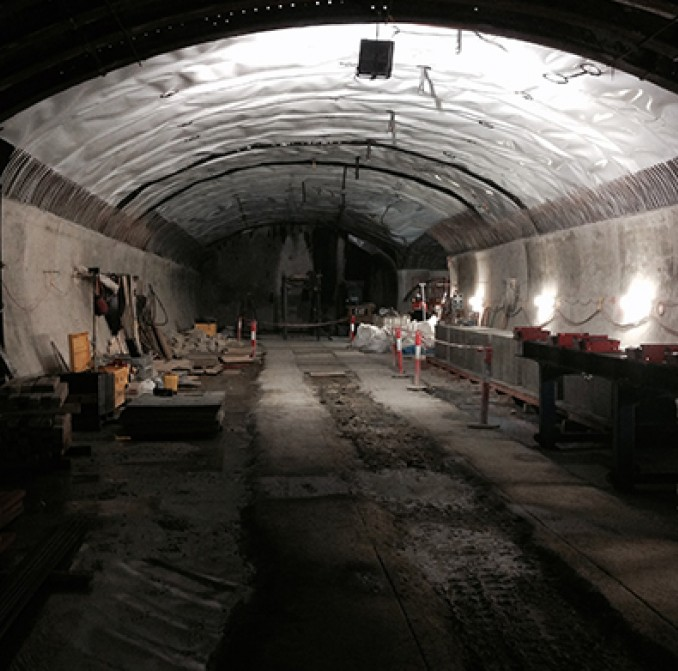 Inside the almost completed tunnel