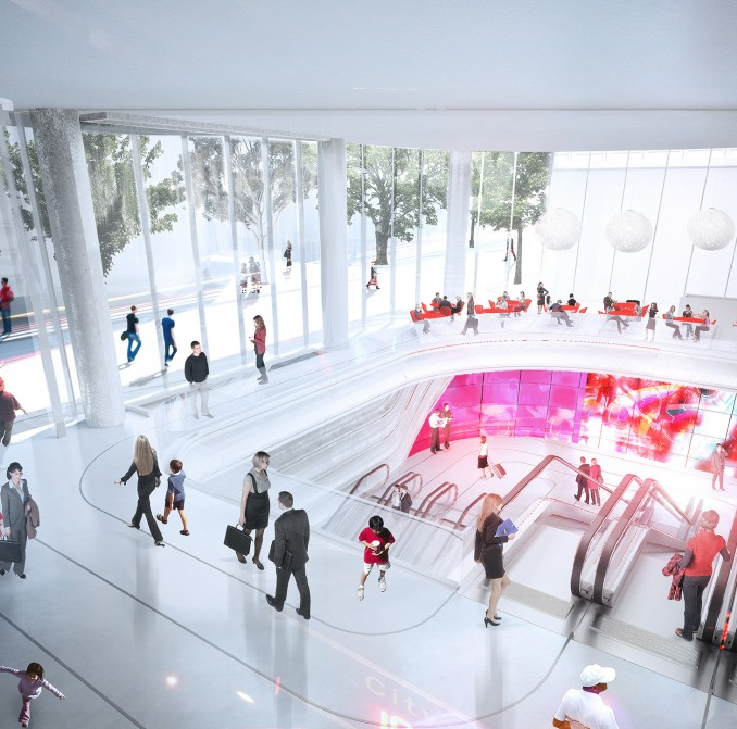 Artist impression of Wynyard Walk