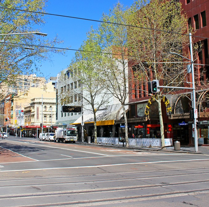 George Street, looking south from Hay Street in Haymarket