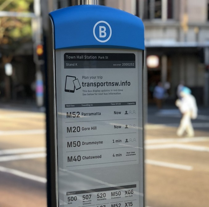 E-paper bus display