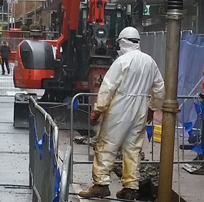 Work continues on George Street for the CBD and South-East light rail