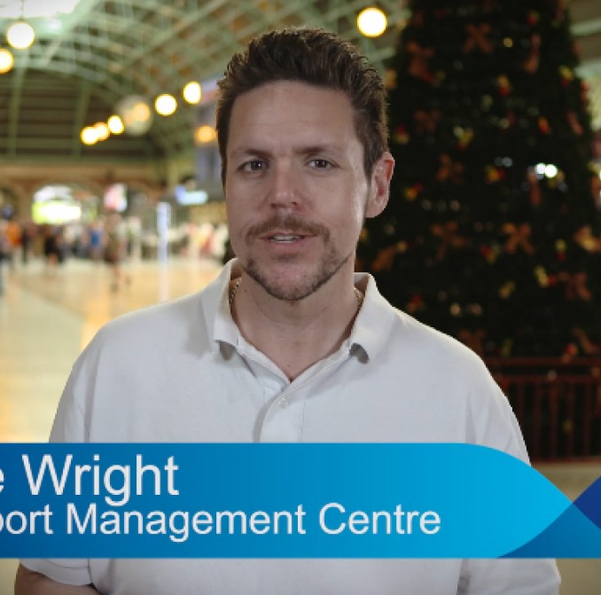 Dave Wright, from Transport for New South Wales' Transport Management Centre