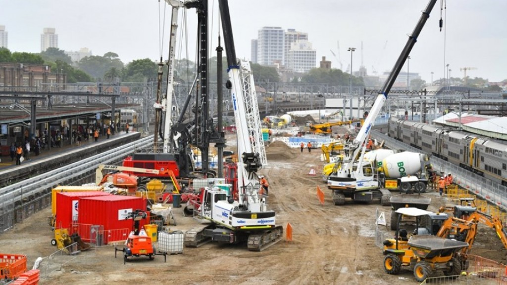 Major construction underway at Central Station