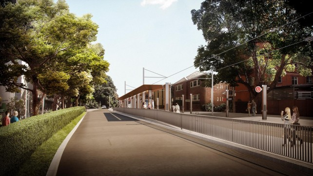 An artist impression of the new UNSW rail stop