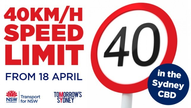 Slow down in the cbd: 40km/h speed zone extended