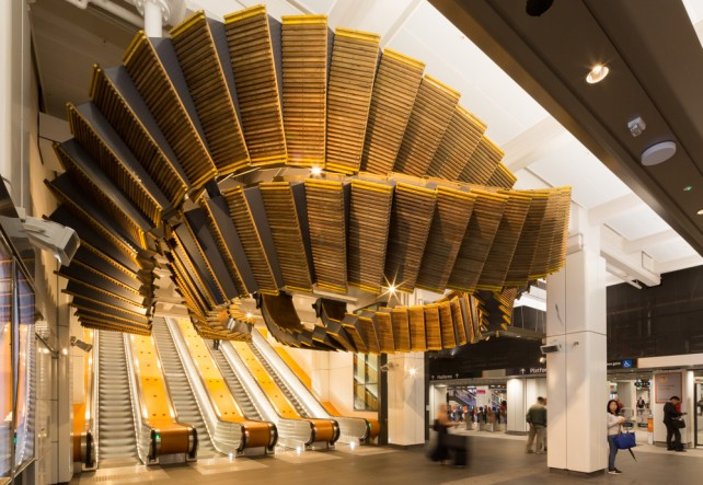 Wynyard Station's gravity defying artwork, Interloop