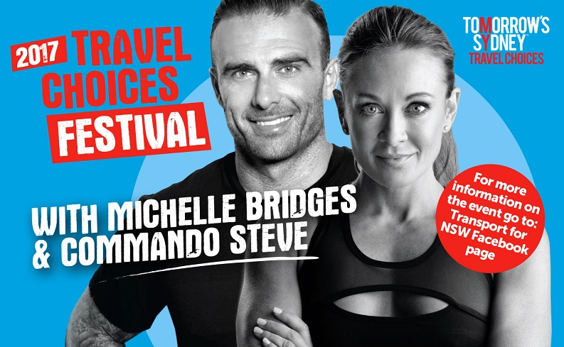 2017 Travel Choices Festival with Michelle Bridges and Commando Steve